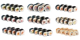 Set of sushi Royalty Free Stock Photo