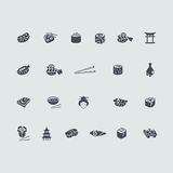 Set of sushi icons Stock Photography