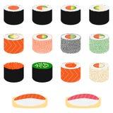 Set of sushi,  illustration Royalty Free Stock Photography