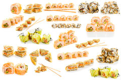 Set of sushi isolated Royalty Free Stock Images