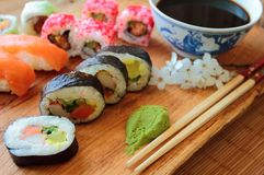 Set of sushi mix Stock Image