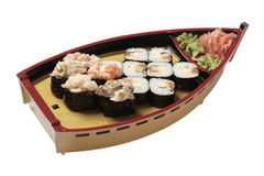 Set of sushi with mussel Stock Photos