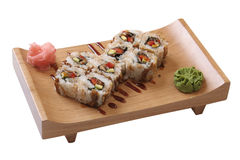 Set of sushi with octopus Stock Images