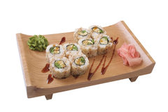 Set of sushi with omelet Stock Photos