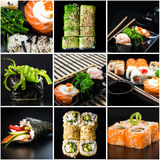 Set of sushi Royalty Free Stock Photos