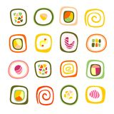 Set of sushi roll. Vector illustration Stock Image