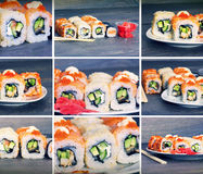 Set of sushi rolls Royalty Free Stock Image