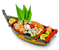 Set of sushi and rolls Royalty Free Stock Photos