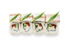Set of sushi rolls isolated at white Royalty Free Stock Photo