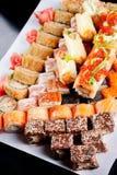 Set of sushi rolls stock photos