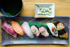 Set of Sushi. In a row Stock Photo
