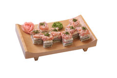 Set of sushi with salmon and tune Stock Photo