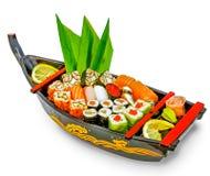 Set Sushi und Rollen Lizenzfreie Stockfotos