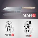 Set of sushi vector template logo, icon, symbol Stock Image
