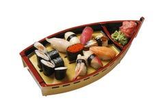 Set of sushi on white Royalty Free Stock Photo
