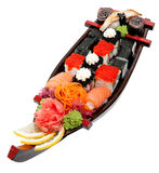 Set of sushi on wooden stand Stock Image