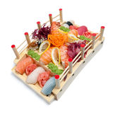 Set of sushi on wooden stand i Royalty Free Stock Photos