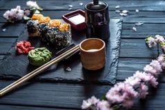 Set suszi 2 i Sakura zdjęcia royalty free