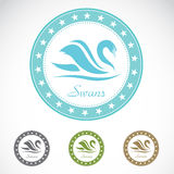 Set of  swan label Royalty Free Stock Photography
