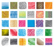 Set swatches and textures Stock Photography