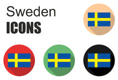 Set sweden icons Royalty Free Stock Images