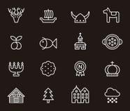 Set of Swedish icons Stock Image
