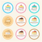 Set of sweet bakery badge label and logo design Royalty Free Stock Photography