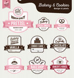 Set of sweet bakery and bread labels design Stock Images