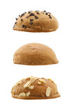 Set of sweet buns isolated on white background Royalty Free Stock Images