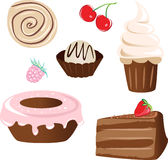 Set of sweet cake Stock Image