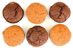 Set of sweet cakes. Top view Royalty Free Stock Images