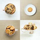 Set of sweet cookies Stock Images