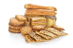 The set of sweet cookies Stock Image