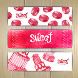 Set of sweet or dessert banners Royalty Free Stock Photography