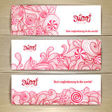 Set of sweet or dessert banners Royalty Free Stock Image