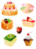 Set of sweet dessert  icons Royalty Free Stock Photo