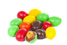 Set of sweet dragees of different color Stock Images