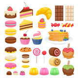Set of sweet food icons Stock Image