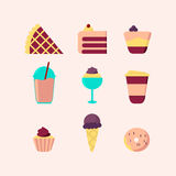 Set of Sweet Food Icons. Stock Images