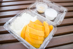 Set of sweet mango and sticky rice Stock Photo