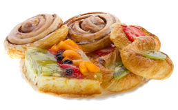 Set of sweet pastry Stock Images