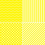 Set of sweet patterns in yellow color. Stock Photo