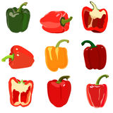 Set of sweet pepper. Stock Photography