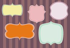 Set of sweet retro vector frames Royalty Free Stock Photography