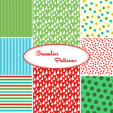 Set of sweet seamless vector patterns. In bright colors. Vector eps 10 Royalty Free Stock Photos