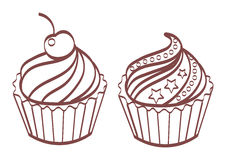 Set of sweet and tasty cakes. Stock Photography