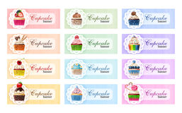 Set of sweet vector banners. Stock Images