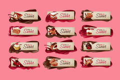 Set of sweet vector banners. Royalty Free Stock Photography