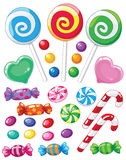 Set of sweets vector illustration