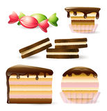 Set of sweets Royalty Free Stock Photography